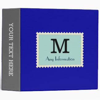 Elegant Duke Blue Color Monogram Binders