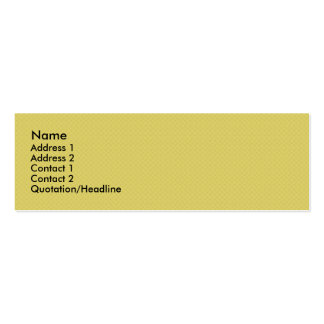 elegant dull yellow damask circles on yellow backg Double-Sided mini business cards (Pack of 20)