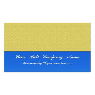 elegant dull yellow damask circles on yellow backg Double-Sided standard business cards (Pack of 100)