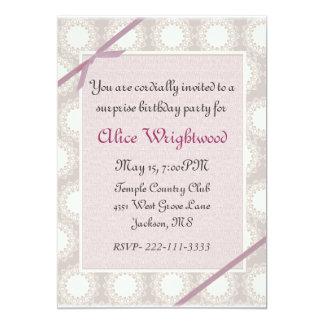 "Elegant dusty rose Ladies Birthday Invitation 5"" X 7"" Invitation Card"
