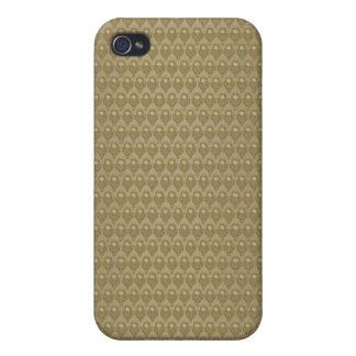 Elegant earthy brown pern iPhone 4 cases
