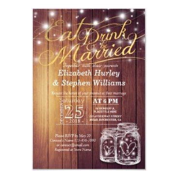 ReadyCardCard Elegant EAT Drink & Be Married Wedding Invitations