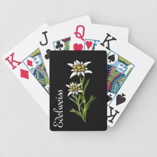 Elegant Edelweiss Botanical Playing Cards