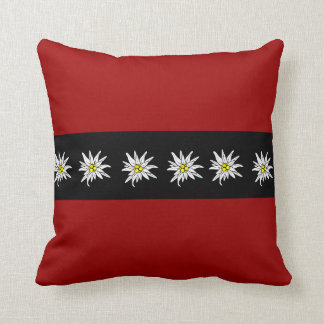 Elegant Edelweiss Red Black American MoJo Pillow