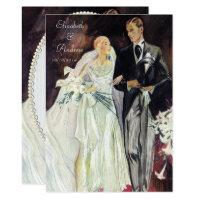 Elegant Edwardian Wedding Invitation