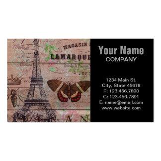 elegant eiffel tower floral vintage paris business card templates
