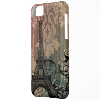 elegant eiffel tower floral vintage paris cover for iPhone 5C