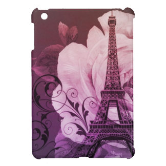 elegant  eiffel tower floral vintage paris iPad mini cases