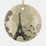 elegant eiffel tower floral vintage paris ornaments