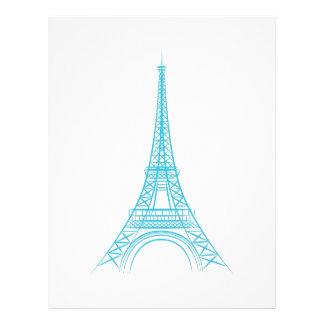 Elegant Eiffel Tower Paris Landmark Letterhead