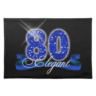 Elegant Eighty Sparkle Placemat