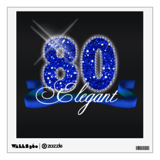 Elegant Eighty Sparkle Wall Decal