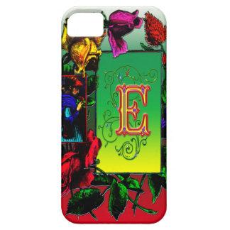 Elegant Elaborate Letter E Monogram Art iPhone 5 Case