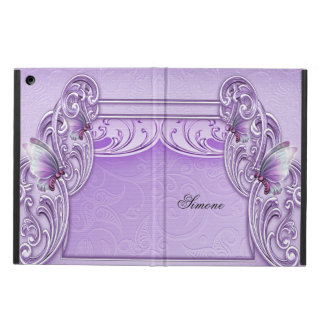 Elegant Elegant and Pretty Purple Butterfly iPad Air Covers