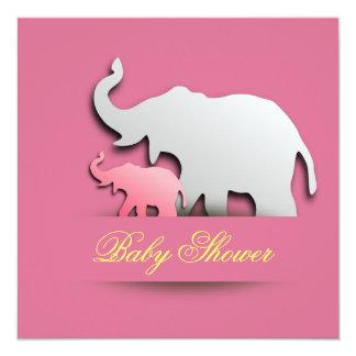 Elegant elephant baby shower invitation
