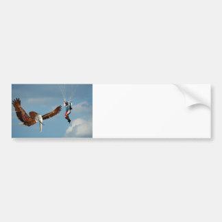 Elegant Elephant Eagle Bumper Sticker
