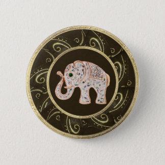 Elegant Elephant Jewels Photo Print Button