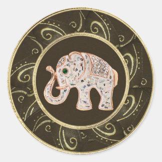 Elegant Elephant Jewels Photo Print Stickers