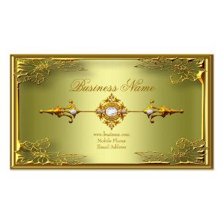 Elegant Elite Avocado Green Gold Profile Card