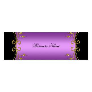 Elegant Elite Classy Purple Black Gold Mini Business Card