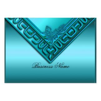 Elegant Elite Classy Teal Blue Large Business Card
