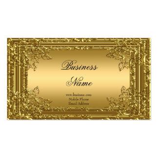 Elegant Elite Gold on Gold Floral Profile Card 2 Business Card