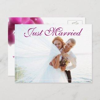 Elegant Elopement Wedding Announcement Postcard