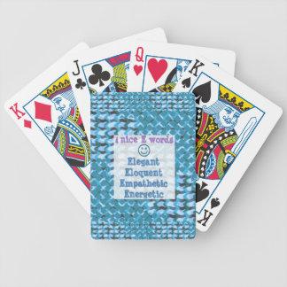 Elegant,ELOQUENT,Energetic, RELATIONSHIP lowprice Poker Cards
