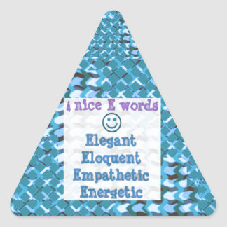 Elegant ELOQUENT Energetic RELATIONSHIP lowprice Triangle Sticker