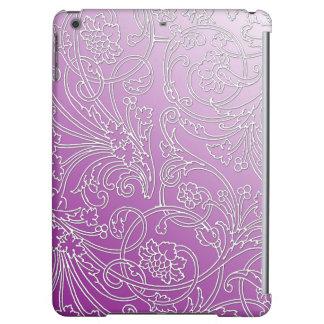 Elegant Embossed Filigree Floral on Pastel Purple iPad Air Case