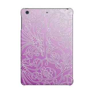 Elegant Embossed Filigree Floral on Pastel Purple iPad Mini Retina Case