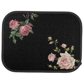 Elegant Embossed Pink Roses Car Floor Mat