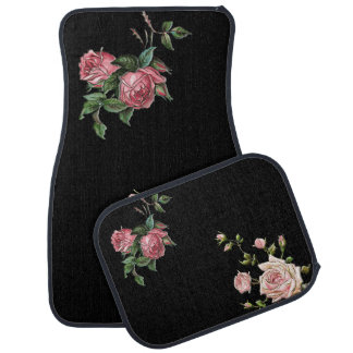 Elegant Embossed Pink Roses Car Mat