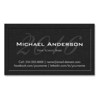 Elegant Embossed Senior Class Graduation Name Card Magnetic Business Card