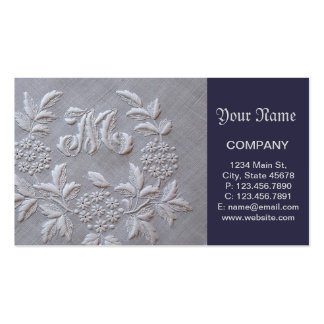 Elegant Embroidery Floral Business Card