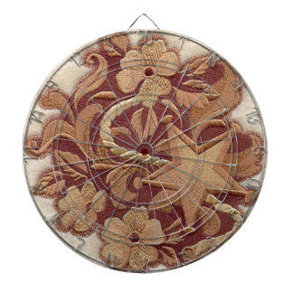 Elegant Embroidery Flowers and Star Dartboard