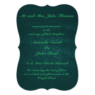 Elegant Emerald Green Wedding Card