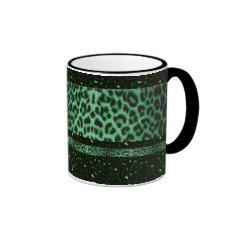 Elegant Emerald Leopard Custom Mug