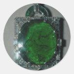 Elegant Emerald pendant of 167 carats Round Sticker