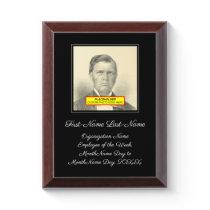 "Elegant ""Employee of the Week"" Award Plaque"