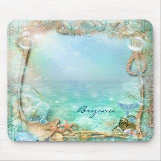 Elegant Enchanted Sea Beach Tropical Mouse Pad