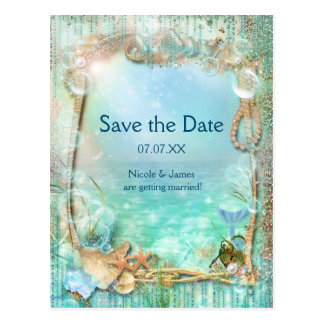 Elegant Enchanted Sea Save The Date Postcard