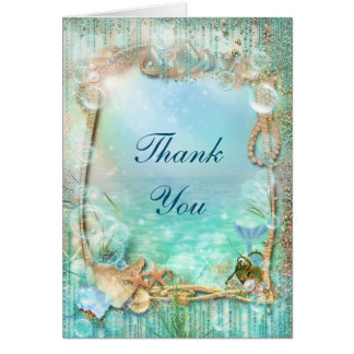 Elegant Enchanted Under The Sea Beach Fold Card