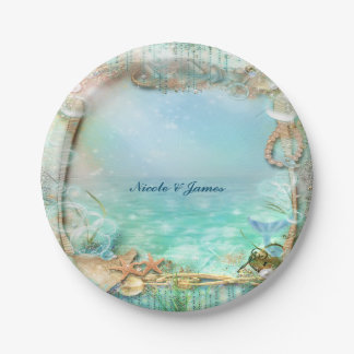 Elegant Enchanted Under The Sea Beach Plates