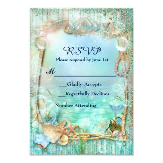 Elegant Enchanted Under The Sea Beach RSVP Card
