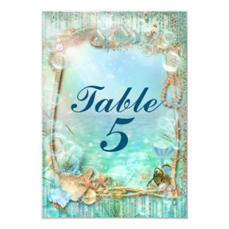 Elegant Enchanted Under The Sea Beach Table Number