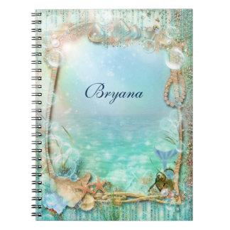 Elegant Enchanted Under The Sea Notebook Journal