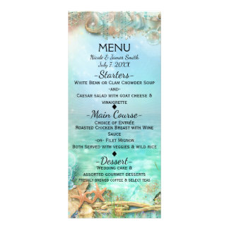 Elegant Enchanted Under The Sea Wedding Menu