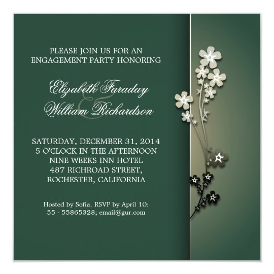 elegant engagement invitations