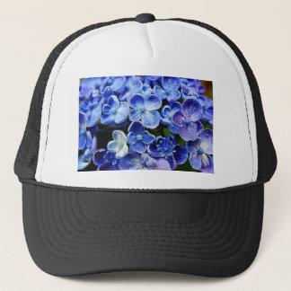 elegant english country garden blue purple lilacs trucker hat